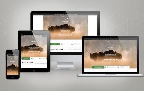 Wizualizacja strony internetowej Hotelu Matecznik na urządzeniach mobilnych oraz laptopie i komputerze