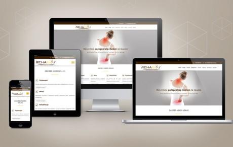 Responsywna strona internetowa dla gabinetu rehabilitacji i fizjoterapii